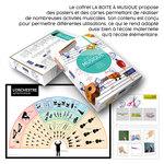 Aperçu de La Boite à Musique publié par ACCÈS Éditions et de quelques-unes des activités du coffret.
