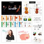 Fiches d'instruments et d'activités disponibles dans le coffret La Boite à Musique publié par ACCÈS Éditions.