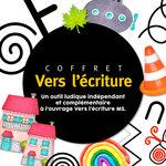 Zoom sur la couverture du coffret Vers l'écriture moyenne section publié par Accès Editions.