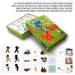 Coffret pédagogique Sciences à vivre Maternelle accompagné de cartes issue du boitier.