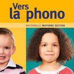 Zoom sur la couverture du livre Vers la phono moyenne section publié par Accès Éditions où deux enfants imitent des sons.