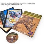 Histoires d'arts répertoire d'œuvres entouré de son CD complément numérique et de fiches de reproduction d'œuvres d'art.