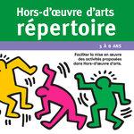 Focus sur la couverture de Hors-d'œuvre d'arts Répertoire et de l'illustration de Keith Haring Sans titre datant de 1988.