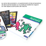 Mise en situation du coffret pédagogique Hors-d'œuvre d'arts Répertoire accompagné du complément CD et de quelques fiches.