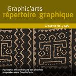 Focus sur la photographie du textile traditionnel africain peint à l'argile de la pochette Graphic'arts répertoire graphique.