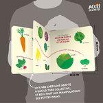 Aperçu de quelques pages du livre jeunesse Mon imagier des fruits et des légumes de la collection Mes Imajeux d'ACCÈS Jeunesse.