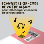 Version sonore des livres de la collection Mes Premiers albums dès 4 ans d'ACCÈS Jeunesse accessible à partir du QR code situé au dos des albums.
