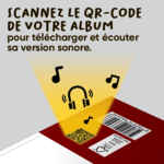Version sonore des livres de la collection Mes Premiers contes dès 4 ans d'ACCÈS Jeunesse accessible à partir du QR code situé au dos des albums.