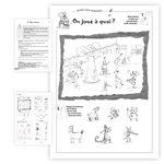 Aperçu de quelques pages et exercices du livre pédagogique 29 Jeux d'Écoute 4 à 6 ans publié par ACCÈS Éditions.