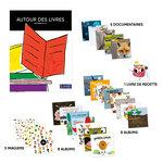 Aperçu des livres par collection inclus dans le lot guide pédagogique Autour des livres MS et 24 livres ACCÈS jeunesse .