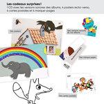 Aperçu des différents cadeaux surprises inclus dans le lot ACCÈS Jeunesse TPS-PS 20 albums.
