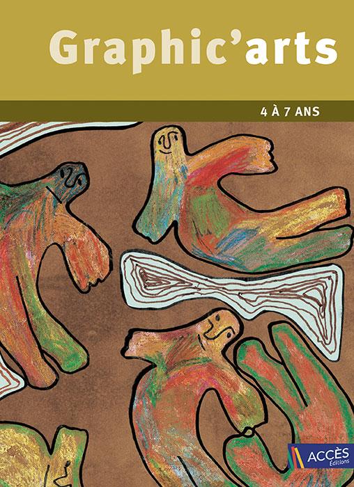 Couverture du livre pédagogique Graphic'arts illustrée par des dessins de personnages multicolores.