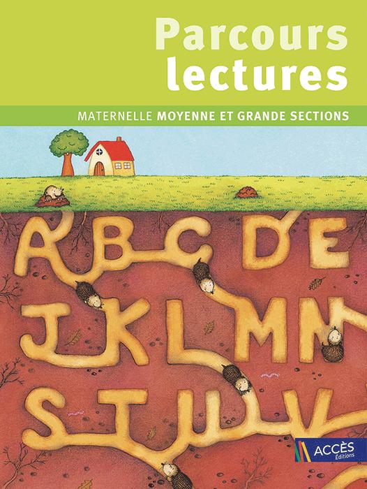 Couverture du Livre pédagogique Parcours Lectures illustré par des taupes creusant un abécédaire dans la terre dans un champ.