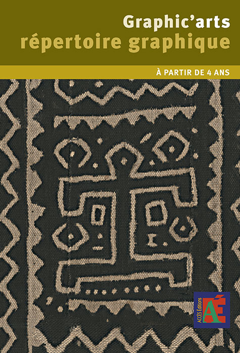 Couverture de Graphic'arts répertoire graphique illustrée par la photo d'un textile traditionnel africain peint à l'argile.