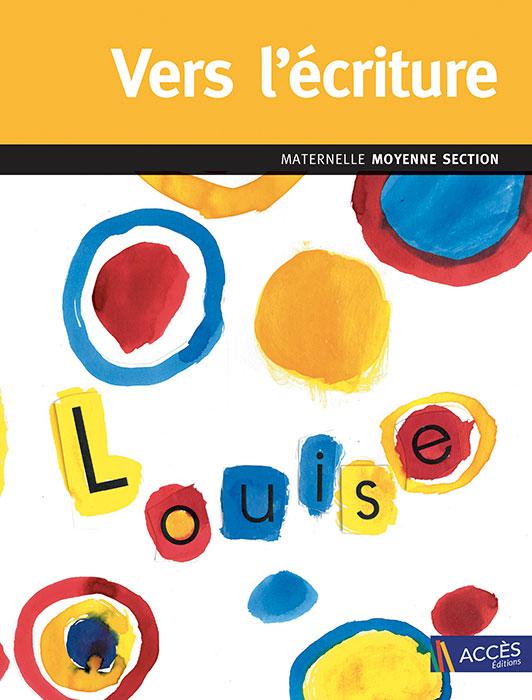 Dessin de ronds de couleurs à la gouache sur la couverture de l'ouvrage pédagogique Vers l'écriture moyenne section.