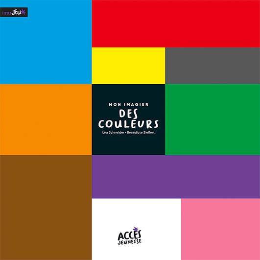Couverture du livre Mon Imagier des Couleurs de la collection Mes Imajeux d'ACCÈS Jeunesse illustrée par des rectangles de couleurs.