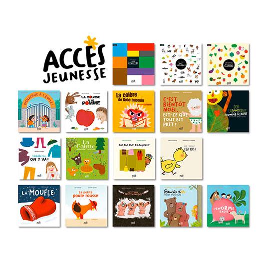 Pack de 17 albums ACCÈS Jeunesse à exploiter avec le livre pédagogique Autour des livres TPS-PS d'ACCÈS Éditions.