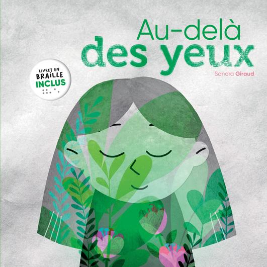 Couverture du livre jeunesse Au-delà des yeux d'Accès Jeunesse illustrée par une enfant fermant les yeux.
