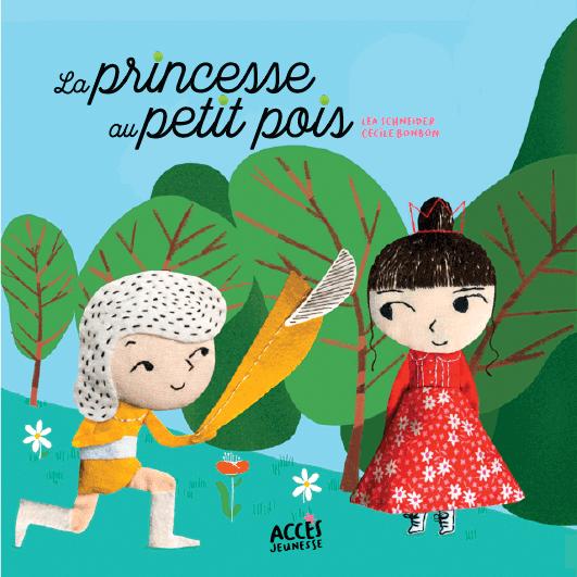 Couverture du livre jeunesse La princesse au petit pois d'Accès Jeunesse illustrée par le prince à genoux devant la princesse.
