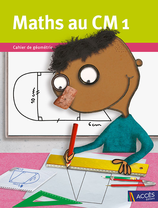 Enfant dessinant une forme géométrique sur la couverture du Cahier de Géométrie et de matériel Maths au CM1 publié par ACCÈS Éditions.