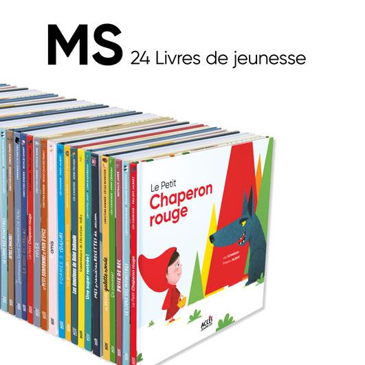 Lot de 24 albums ACCÈS Jeunesse à exploiter avec le guide pédagogique Autour des livres MS.
