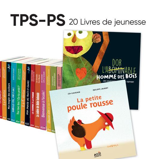 Lot de 20 albums ACCÈS Jeunesse à exploiter avec le guide pédagogique Autour des livres TPS-PS.