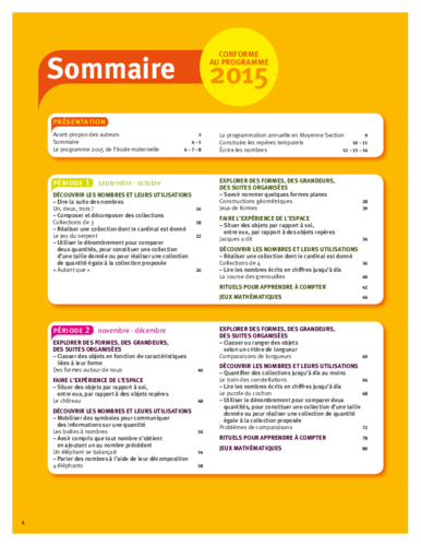 Vers les maths ms sommaire acces editions