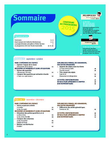 Vers les maths ps sommaire acces editions